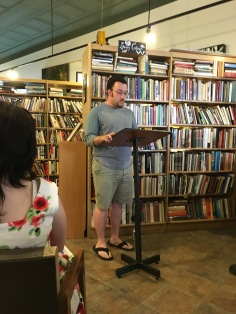 Dakota Garilli reading at East End Book Exchange. Dakota's poetry is featured in Issue 7