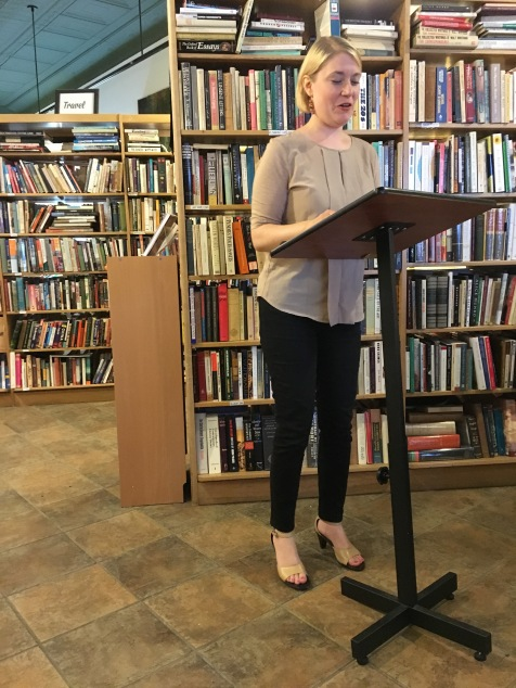 Amy Lee Heinlen, Issue 7 contributor, reading at EEBX