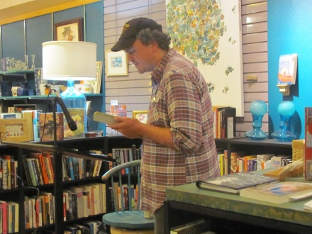 Mathias Svalina reading his poetry at Classic Lines Bookstore. His work can be found in Issue 5.