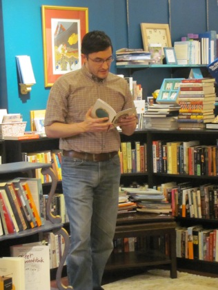 Dan Nowak reading his poetry at Classic Lines Bookstore.